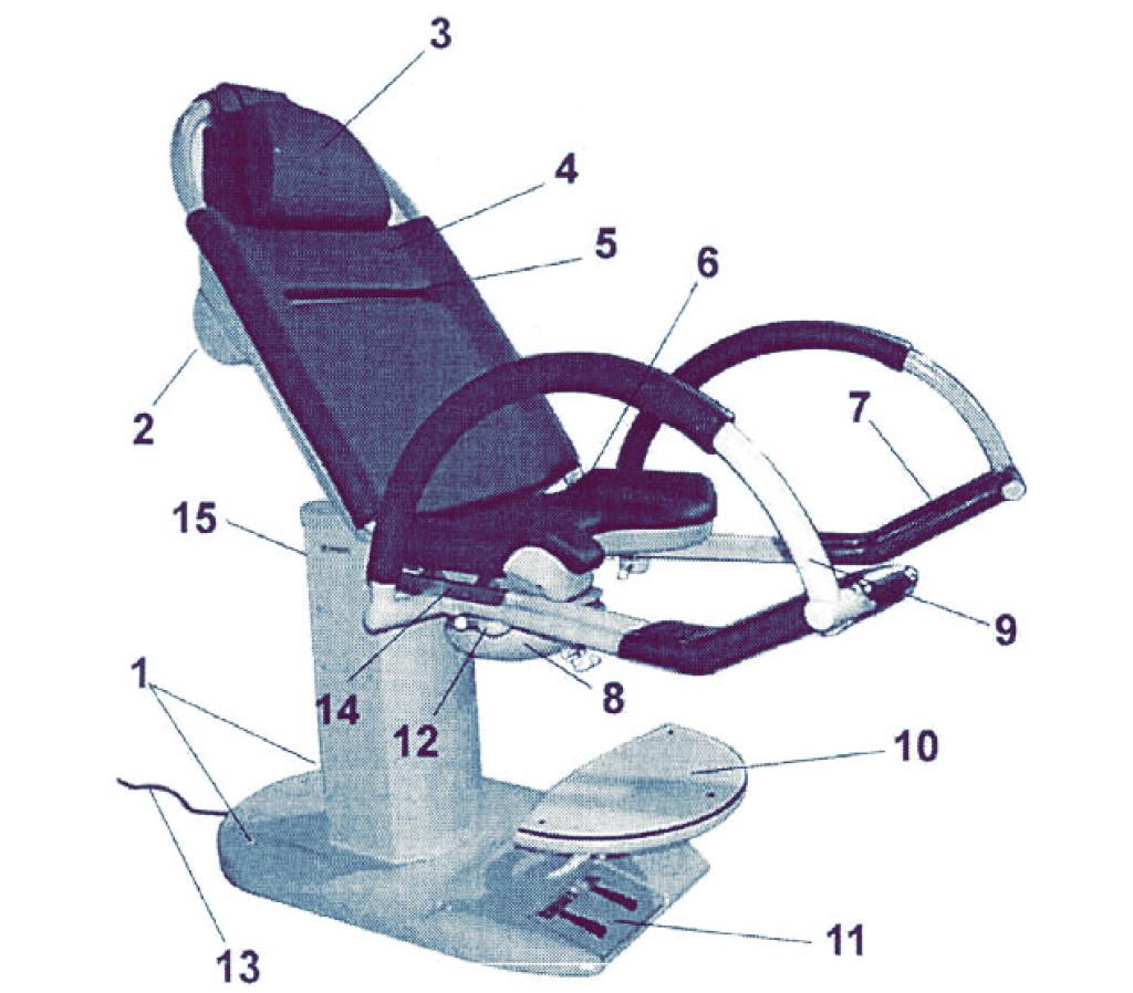 Гинекологическое кресло 1557.00AX