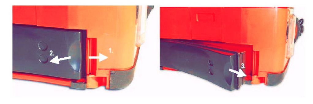 Извлечение аккумулятора дефибриллятор primedic Defi Monitor XD
