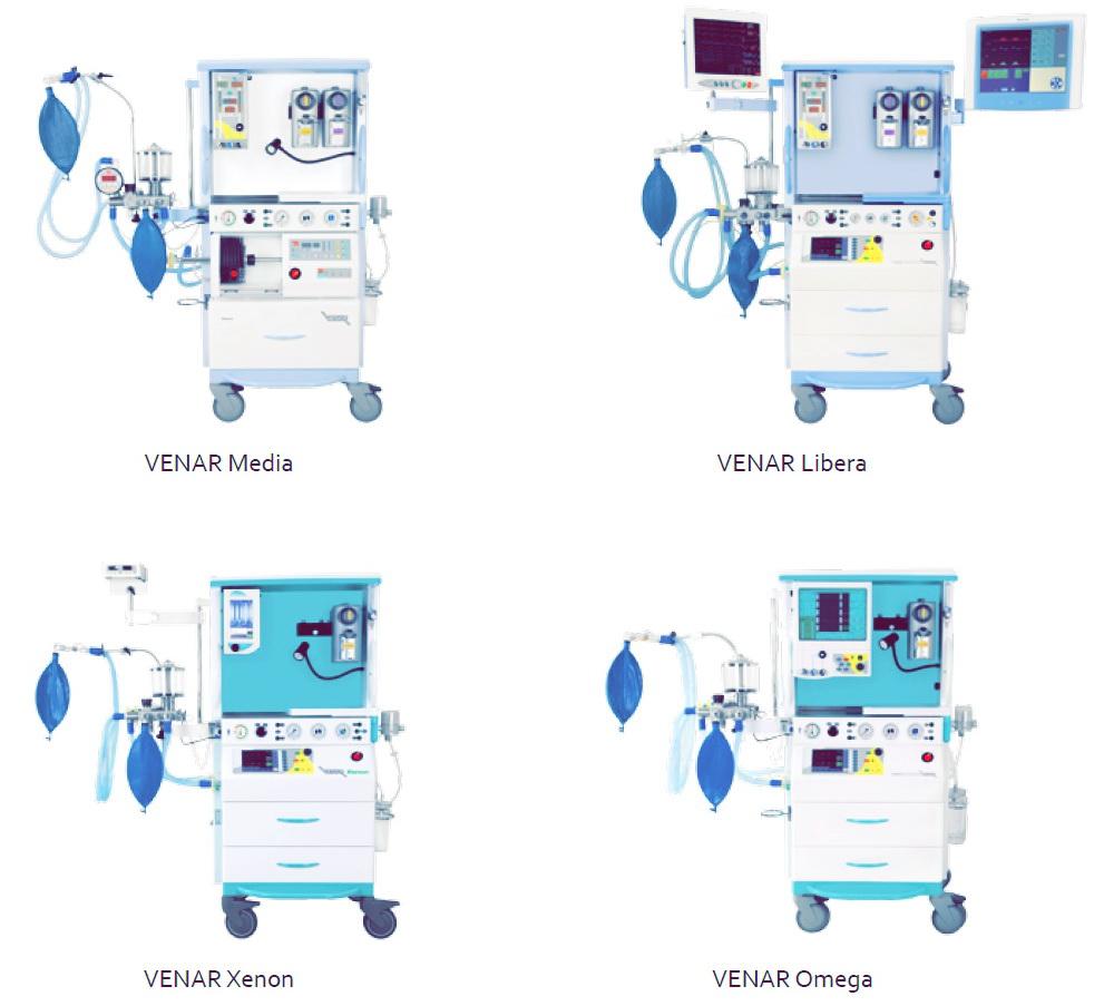 Наркозный аппарат Venar модели