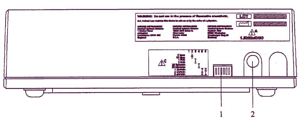 Печатный блок Sonicaid Team задняя панель