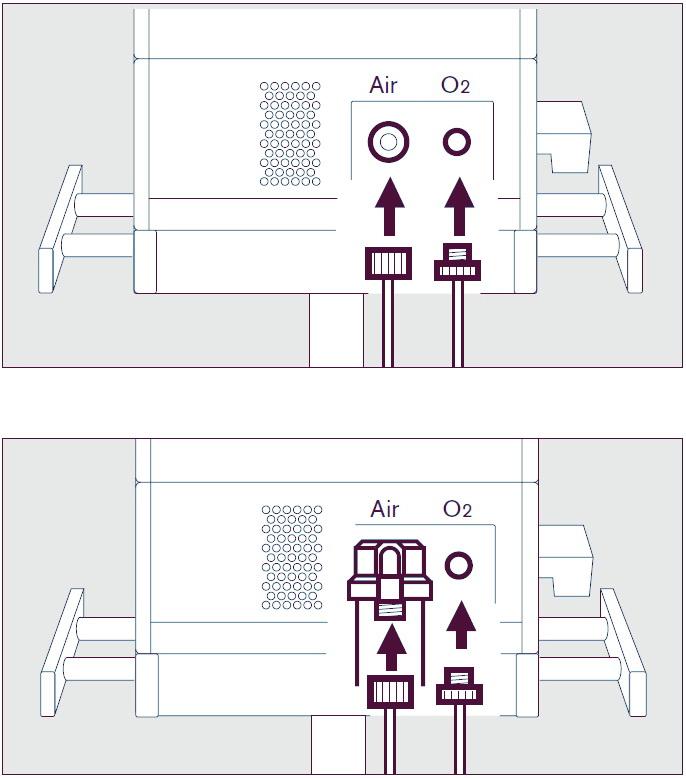 Подсоединение газовых шлангов