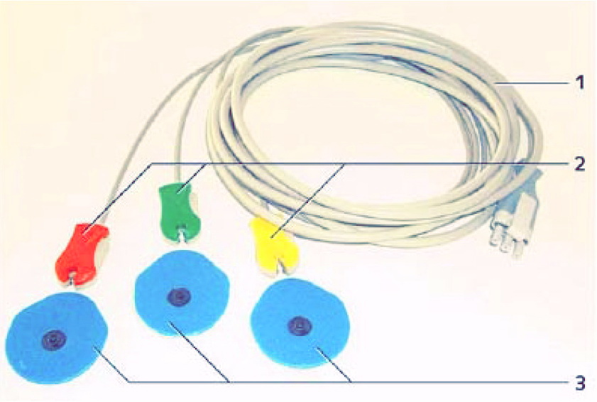 ЭКГ-кабель пациента трехполюсный