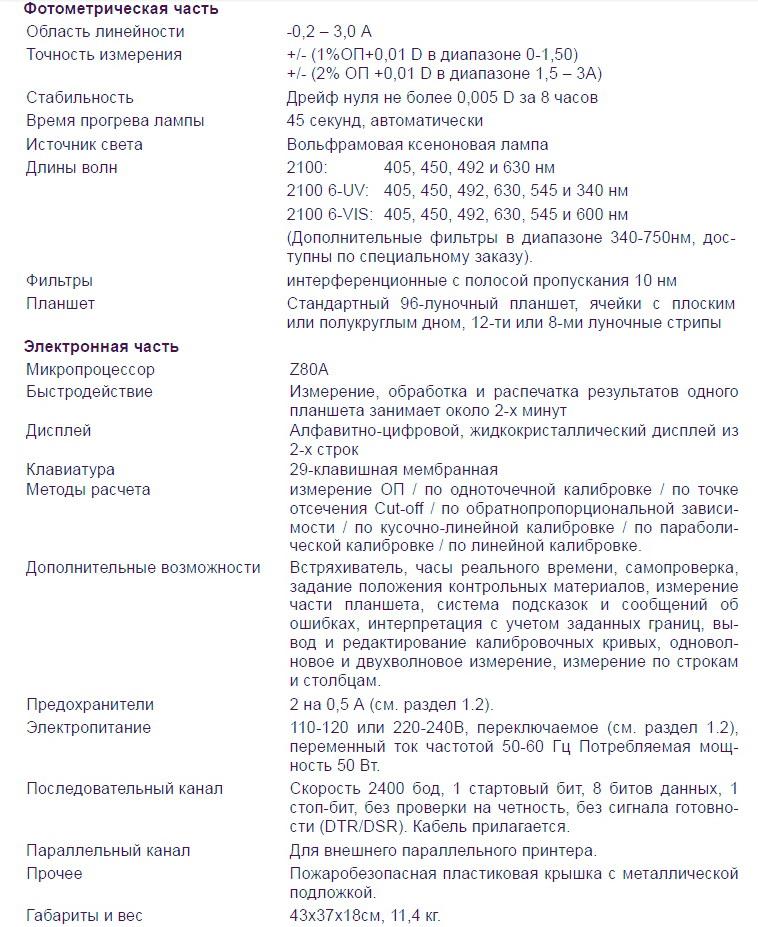Stat Fax 2100 характеристики