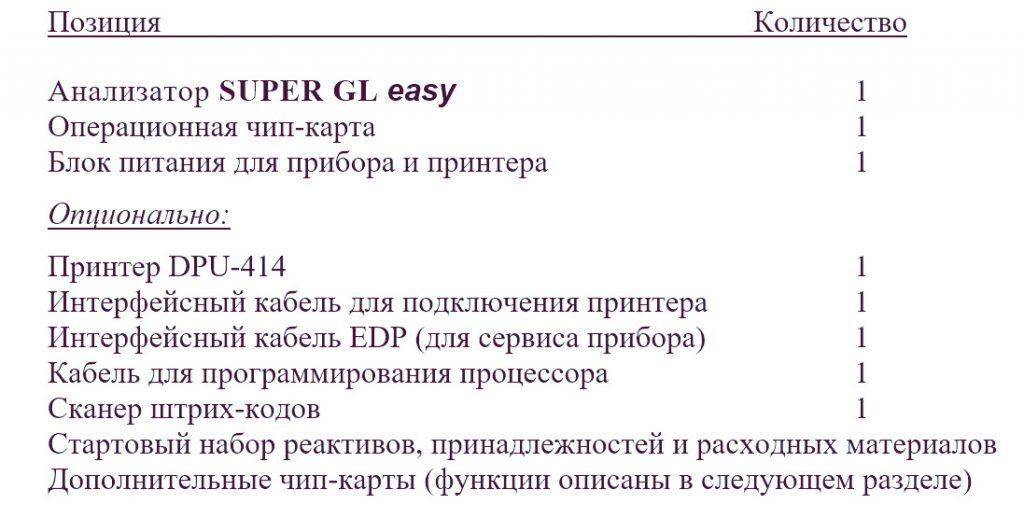 Super GL комплектация