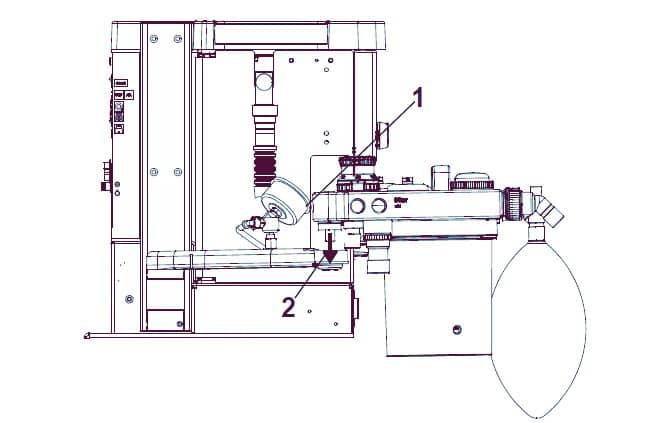 Установка дыхательной системы Fabius Tiro