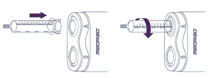 Установка шприца MEDRAD